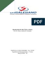 TRABALHO DE MECÂNICA GERAL