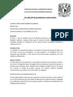 informe pH