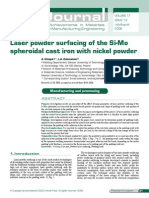 Laser Powder Surfacing of Si Mo SGI With Nickel Powder
