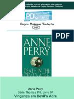 Série Thomas Pitt, Livro 07 Vingança em Devil's Acre
