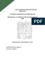 Programa Ingles V