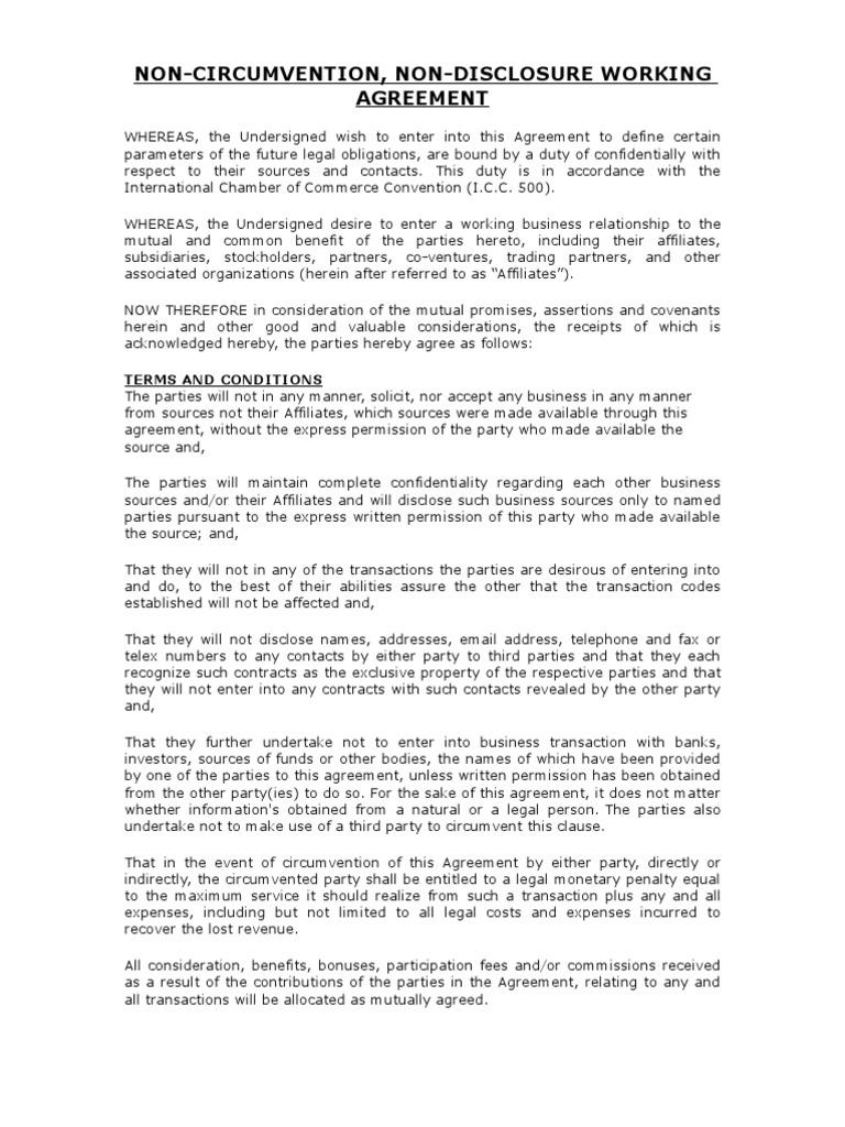 Ncnd Agreement Signature Virtue
