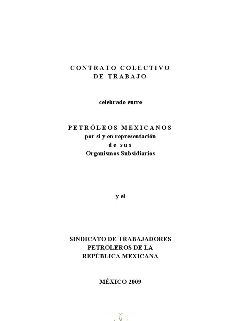Contrato colectivo Pemex