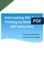 Printing Interception via Modifying Windows Gdi