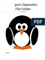 Penguin Opposites File Folder