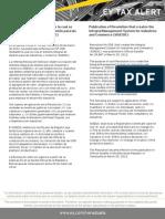 Tax Alert - Resolución mediante la cual se crea el Sistema Integral de Gestión para las Industrias y el Comercio