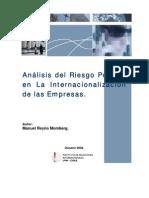 Análisis Del Riesgo Político En La Internacionalización De Las Empresas