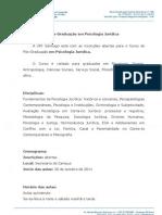 Pós-Graduação em Psicologia Jurídica