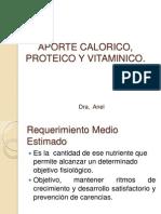 Aporte Calorico, Proteico y Vitaminico
