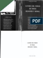 Catorce mil Versos de Temas Religioso y Moral - Antonio Colao Granda