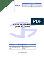 Shac-cal-ma-001 Manual de La Calidad