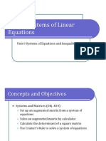 Obj. 24 Systems of Linear Equations (Presentation)