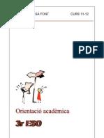 Orientació acadèmica. 3r ESO 11-12