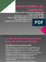 La Violencia  Familiar y la Legislación