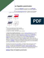 Inspección por líquidos penetrantes