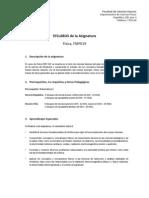 Syllabus FMF019 2011