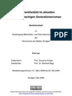 Das Familienbild Im Aktuellen Deutschsprachigen Generation en Roman