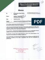 Permanent Secretary's JEEP Memo - March 20 2012
