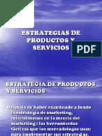 Estrategias de Productos y Servicios