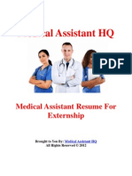 Medical Assistant Resume for Externship
