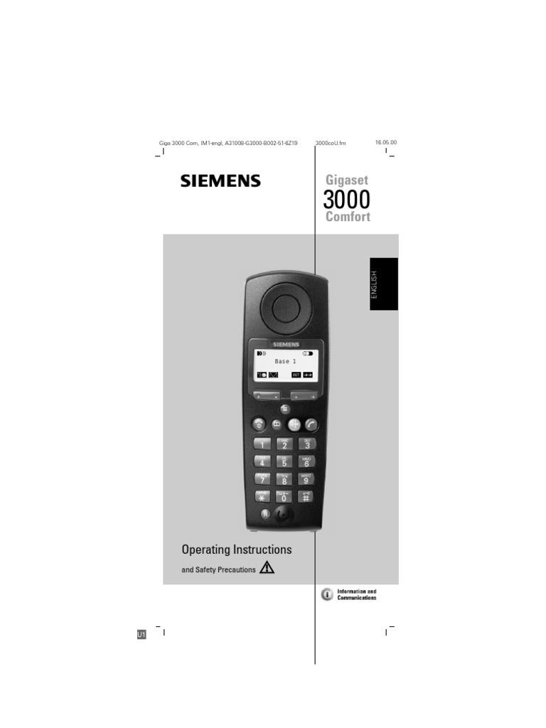 gigaset 3010 user manual siemens battery electricity menu rh es scribd com Siemens Telephone Siemens Telephone