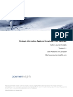 Strategic Information Systems Knowledge IST Rationale