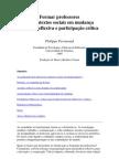 Philippe Perrenoud Formar professores em contextos sociais em mudança