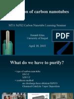 Purification CNT