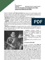 Resumen sobre los Períodos de la Historia de Chile