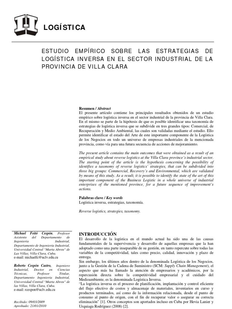 ESTRATEGIASLOGISTICAINVERSA