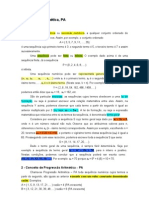 Progressão Aritmética - color