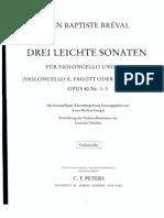 Breval - 3 Sonatas Para Cello
