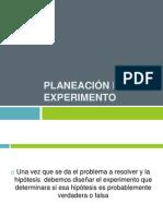 Planeación de un experimento