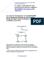 Capa 4 OSI - Capa de Transporte