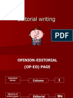 How to write Editorial