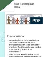 Corrientes Sociológicas Principales