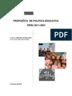 PROPUESTA  DE POLÍTICA EDUCATIVA (sin anexos)