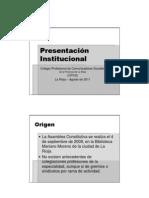 CPCS Presentación Institucional 23ago2011