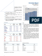 Derivatives Report 22nd March 2012