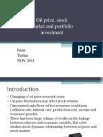 Oil Price, Stock Market and Portfolio Investment