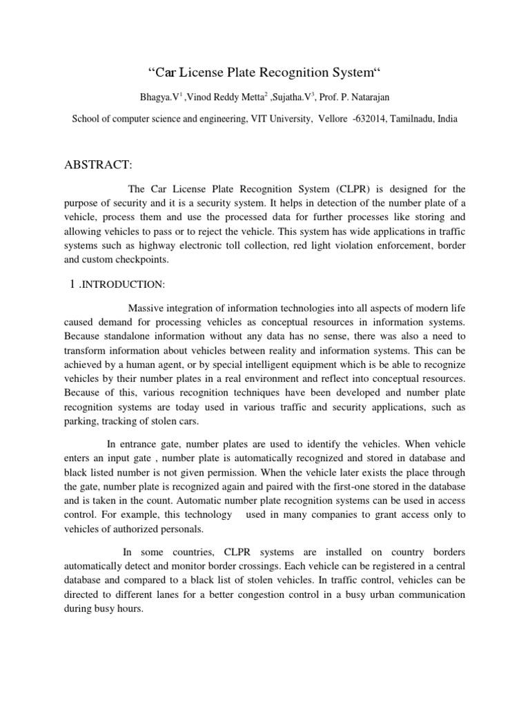 Car License Plate ion System | Image Segmentation | File Format