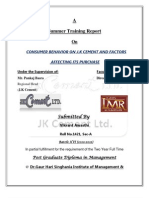 A Report on J.K Cement ltd