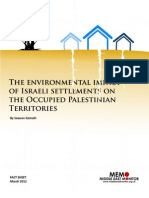 The environmental impact of Israeli settlements on the Occupied Palestinian Territories
