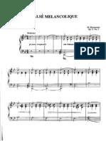 Valse Melancolique Op 31 n 3