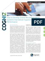 How to Develop Online Recommendation Systems that Deliver Superior Business Performance