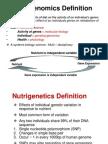 Nutrigenomics Definition