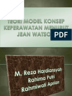 Teori Model Konsep Keperawatan Menurut Jean Watson