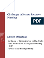 Challenges in HRP