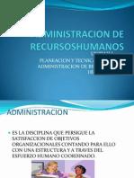 ADMINISTRACION DE RECURSOSHUMANOS