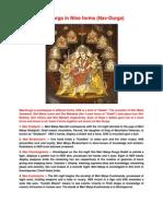 Navratre Nine Forms of Maa Durga Nav Durga